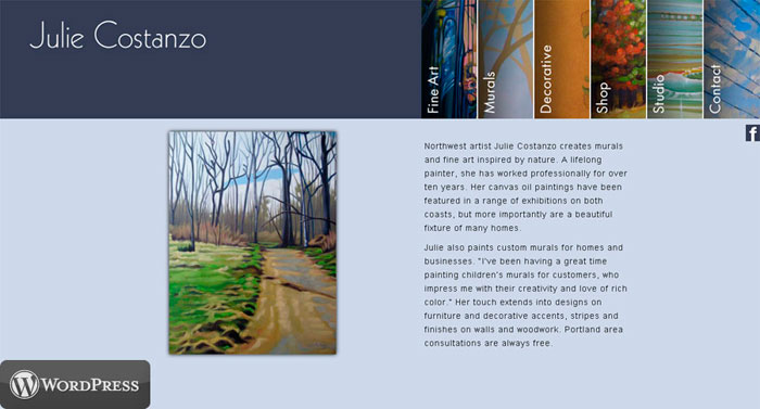 Visit juliecostanzo.com | Design by David Delmar
